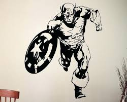 marvel wall stickers captain sticker super hero wall decal marvel comics art vinyl mural home interior marvel wall stickers marvel superhero decal