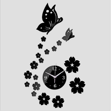 wall clock for office. beautiful clock fashion wall clock digital watch diy 3d mirror sticker kitchen home office  living room decor art on for l
