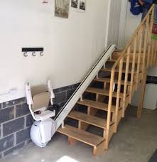 home chair lift. Modren Home A Straight Stair Lift Installed In The Garage Of This Charleston WV By  Amramp For Home Chair Lift O