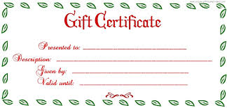 Holiday Gift Certificate Free Printable Christmas Gift Certificate Templates Holiday