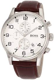 hugo boss men s 1512447 h2006 chronograph silver dial brown hugo boss men s 1512447 h2006 chronograph silver dial brown leather watch