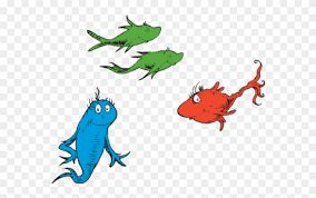 dr seuss one fish two fish red fish blue fish clipart