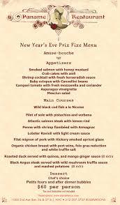 New Year Menu New Years Eve Prix Fixe Paname Restaurant Nyc