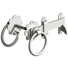 iw ring latch gate ironwork ring latch