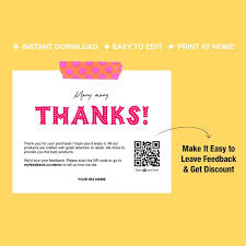 Printable Thank You Cards Business Thank You Cards Thank Etsy