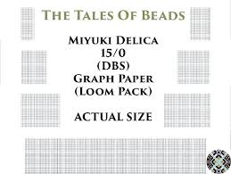 0 Beading Graph Paper Actual Size Seed Bead Templates Loom Pack
