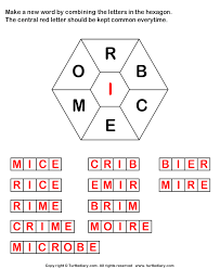 answer make words using letters r b c e m o i