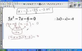 solving linear and quadratic equations