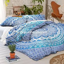 com exclusive blue ombre mandala duvet cover with pillowcases by madhu international ombre mandala quilt cover free mandala i phone cover home