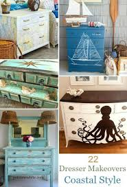 nautical furniture decor. 22 Ideas To Makeover A Dresser Coastal, Beach \u0026 Nautical Style Furniture Decor G