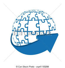 Puzzle Globe Logo Puzzle World Business
