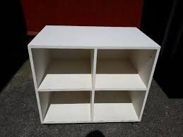 white wooden toy storage unit with four purple boxes cash on collection from gosport hampshire in gosport hampshire gumtree