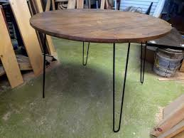 Sooooo i was a bit sick of my current coffee table and thought we could whip up a new one. Round Table Dining Dine Kitchen Mid Century Modern With Hairpin Legs Online Wood Worker