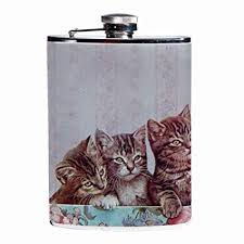 Image result for vintage flask with cat