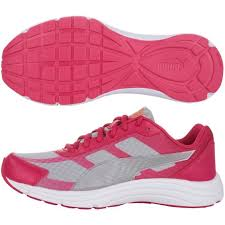 puma shoes pink and white. puma expedite wn ladies running shoes - pink and white h
