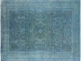 hand knotted wool area rug overdyed rugs