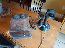 candlestick telephone antique kellogg candlestick telephone w ringer box patent 1901 attic find