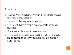 agenda review rhetorical analysis and synthesis essays and thesis  agenda review rhetorical analysis and synthesis essays and thesis statements review of the argument essay