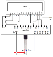 how to integrate a temperature sensor circuit to an lcd temperature sensor connected to lcd