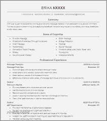 Resume Objective Examples For Massage Therapist New Massage Therapy