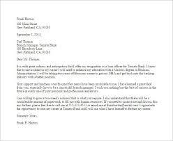 good letter of resignation example of a resignation letter resign good photoshots bank employee