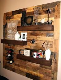 reclaimed pallet wood creates unique and rustic accent walls for any wall floating shelves are the pallet wall pictures wooden accent