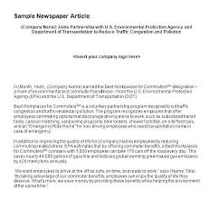 Newspaper Story Template News Article Writing Free Format