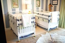 Twins Baby Bedroom Furniture Preppy Striped Twin Nursery Project Nursery  Twin Baby Room Furniture