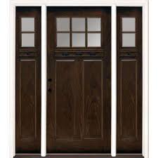 Modern front door Brown 635 Inx81625 In Lt Clear Craftsman Stained Chestnut Mahogany Right Deavitanet Lite Modern Front Doors Exterior Doors The Home Depot