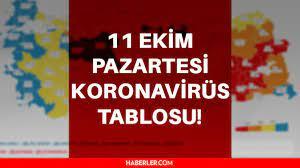 SON DAKİKA 11 Ekim Koronavirüs tablosu açıklandı! Bugünkü korona vefat ve  vaka sayısı kaç? İşte Bugünkü vaka ve vefat sayıları! - Haberler