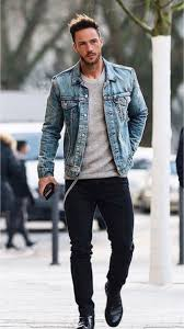 Light Gray Denim Jacket 29 Fresh Street Style Outfits Denim Jacket Men Light