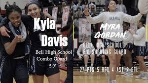 Kayla Davis and Myra Gordon Can Ball! 45 points Sniper Backcourt! - YouTube