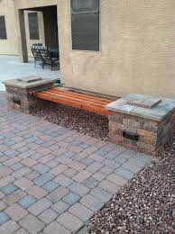 diy rumblestone 4 beam bench with stone spacers and 5 8
