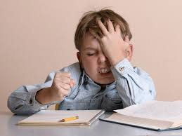 Image result for kids doing homework stressed