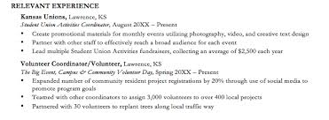 What To Put For Volunteer Experience On A Resume Best Photos Of