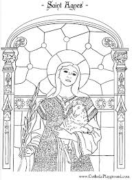 Small Picture Saint Agnes coloring page January 21st Catholic Playground