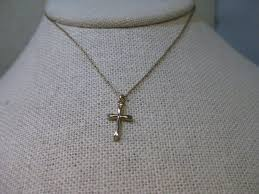 details about 14kt gold filled cross necklace 18 chain with 3 4 cross pendant signed ppc