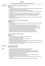 Product Development Resume Sample Associate Product Development Resume Samples Velvet Jobs 23