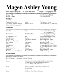 Theatre Resume Awesome 28 Sample Theatre Resumes Templates 28 Resume Tips 28 Idiomax