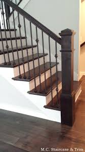 Staircase remodel from M.C. Staircase & Trim. Removal of carpet, wooden  railing and wooden