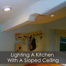 kitchen with a sloped ceiling