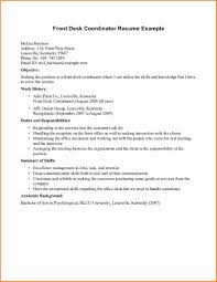Front Desk Receptionist Resume Simple Impression Samples Coordinator