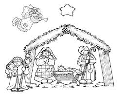 Nativity Coloring Pages Getcoloringpagescom