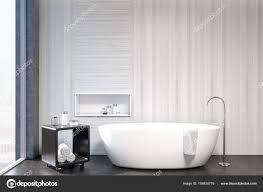 Weiße Badezimmer Interieur Nische Closeup Stockfoto