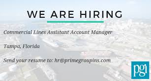 Hiring Commercial Lines Assistant Account Manager