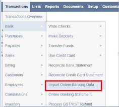import banking data and