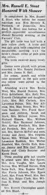 Beverly K Pardieck Stout Wedding Shower - Newspapers.com