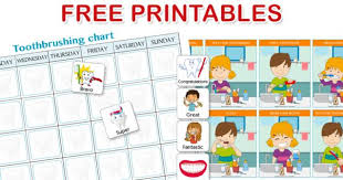 Free Printable Tooth Brushing Chart Brushing Your Teeth An Essential And Fun Activity