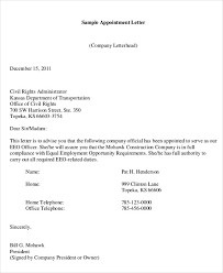 Company Appointment Letter Format Samples - April.onthemarch.co