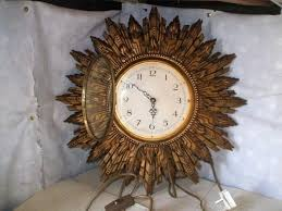 vintage sunburst clock elgin starburst wall